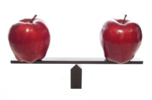 Image of apples on scales