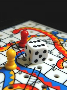Image of snakes and ladders board game